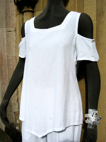 one life cotton crepe off shoulder top dana white