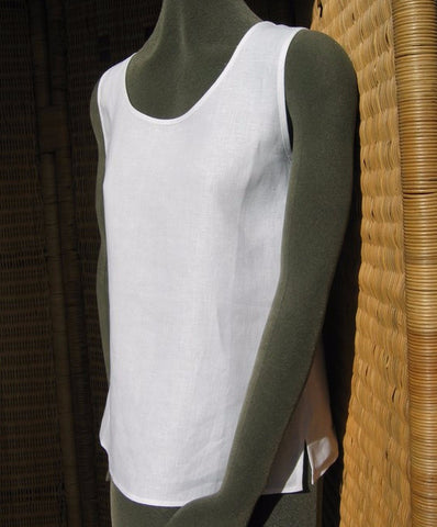 ladies plain linen camisole