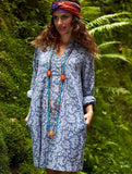 blue fine cotton chambray tunic