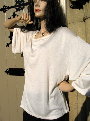 ladies-cashmere and bamboo cream top