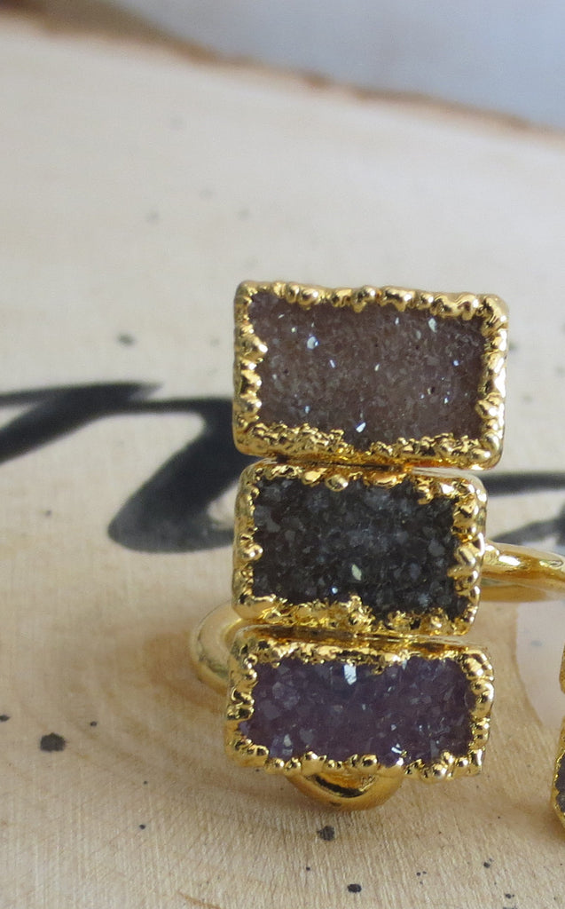 Triple Rectangle Ring