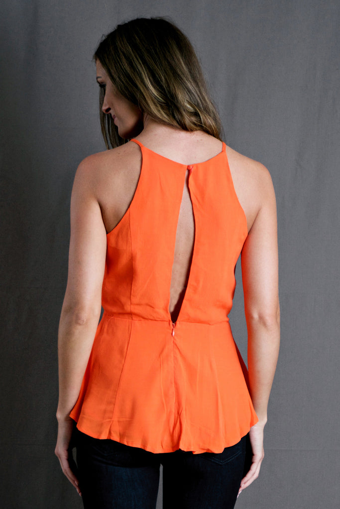 Open Back Peplum Top