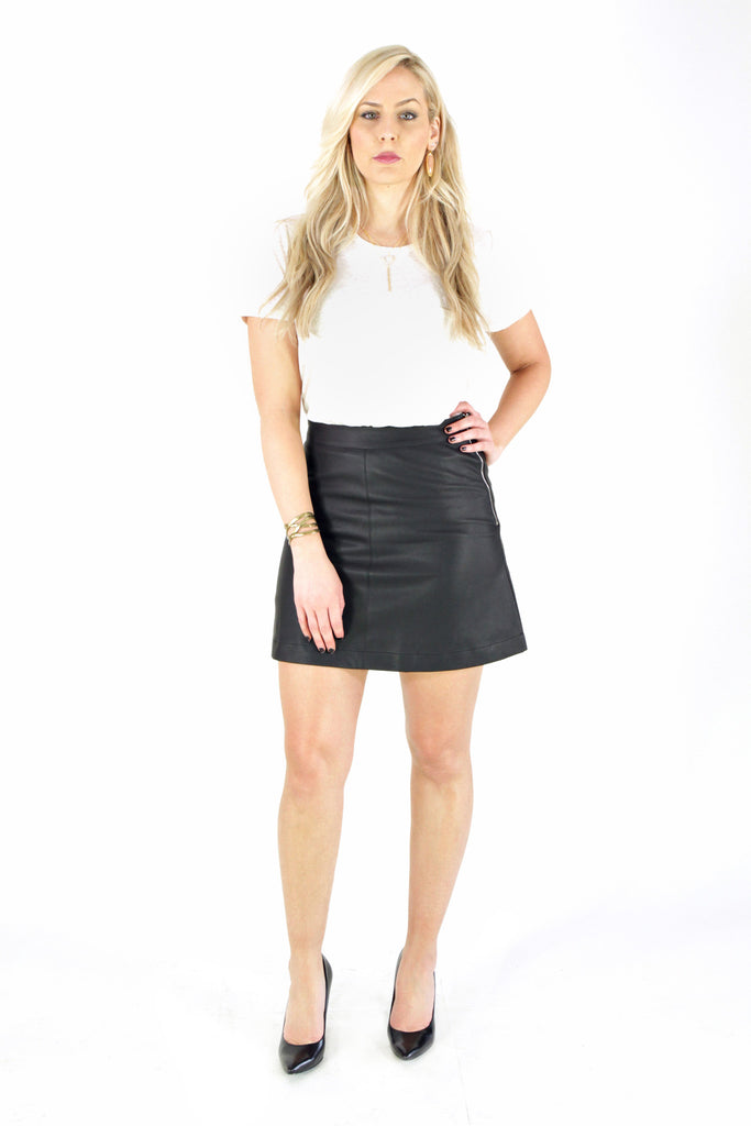 Leather Pointe Skirt