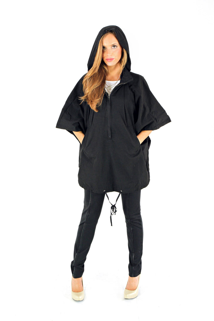 Oversized Hooded Poncho