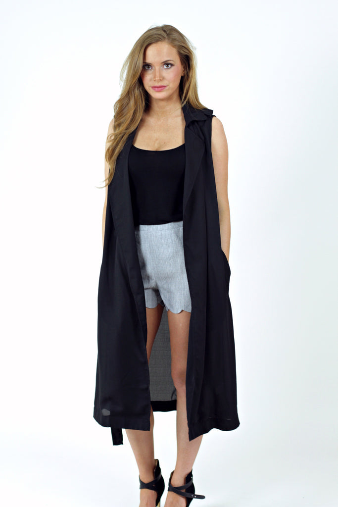 Black Jakie Sleeveless Jacket