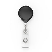 MINI-BAK Badge Reel With A Clip-On Or Belt Clip Attachment And Clear I.D. Badge Holder (5-Pack)