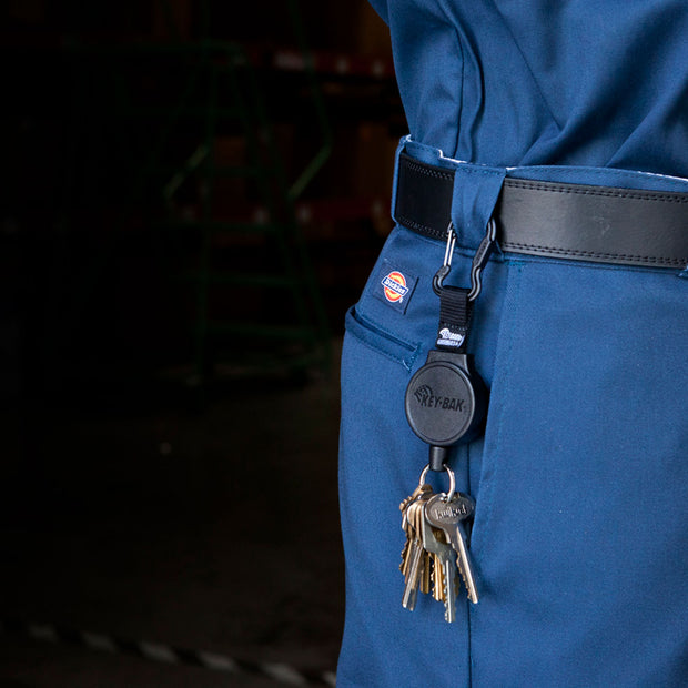 MID6 Retractable Keychain with Carabiner and Key Ring