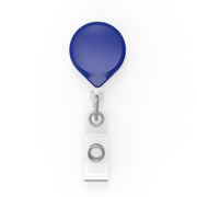 MINI-BAK Badge Reel with a Clip-on or Belt Clip Attachment and Clear I.D. Badge Holder