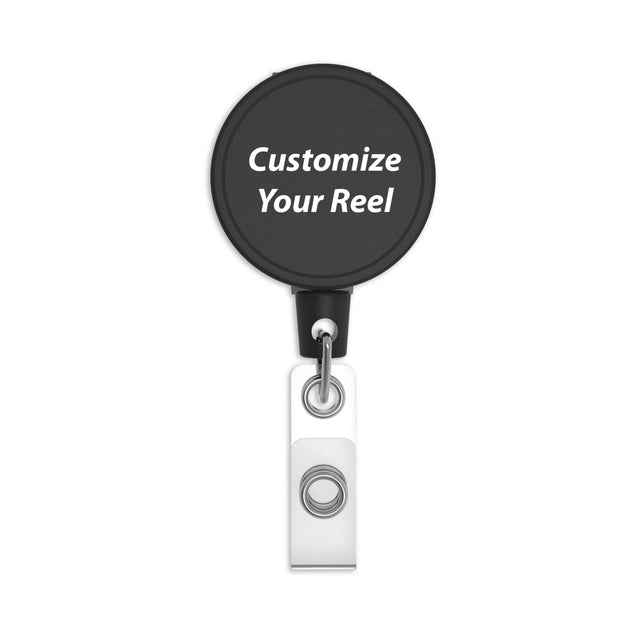 MID6 Heavy Duty Clip-on Badge Reel with Custom Logo Printing