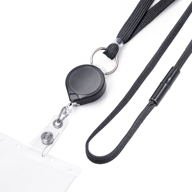 MINI-BAK® Retractable Badge Holder with Lanyard