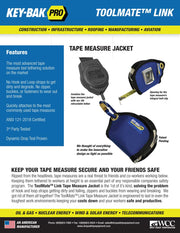 Tape Measure Jacket Tool Attachment and Retractable Tool Lanyard Combo