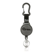 MID6-Duo Heavy Duty Badge Reel and Keychain with Belt Clip or Carabiner That Holds 10 Keys