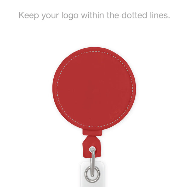 Retract-A-Badge Circle with Custom Logo Printing - KEY-BAK Retractable Reels