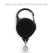 Retract-A-Badge Carabiner with Custom Logo Printing - KEY-BAK Retractable Reels