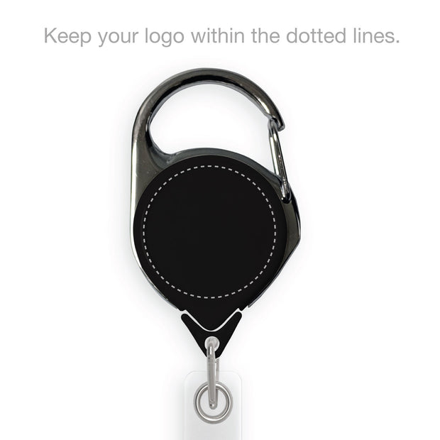 Retract-A-Badge Carabiner with Custom Logo Printing