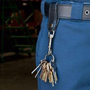 Bolt Snap Key Ring with Detachable Leather Strap
