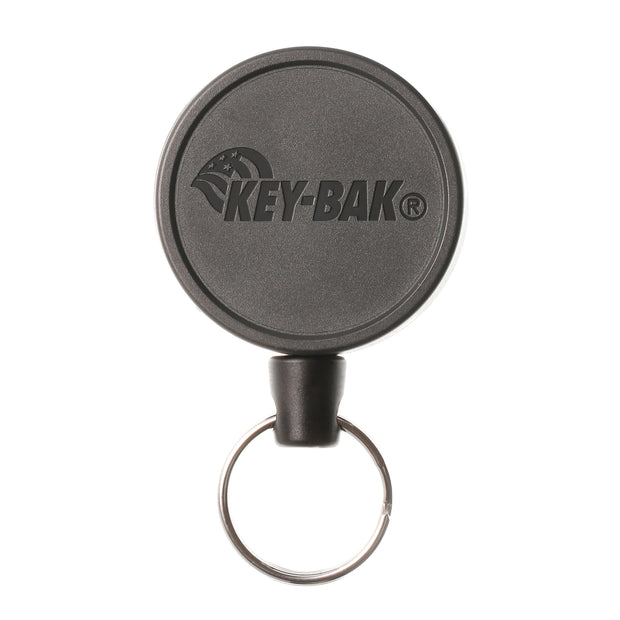KEY-BAK MID6 Heavy Duty Retractable Keychain with Carabiner or Belt Clip That Holds Up to 10 Keys