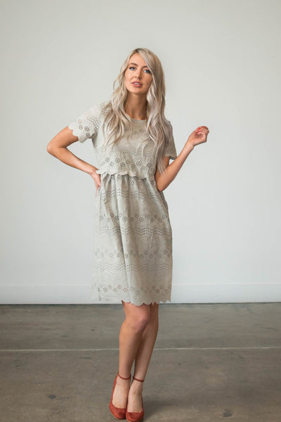 Loren Scalloped Dress