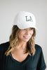 LA Cap in White
