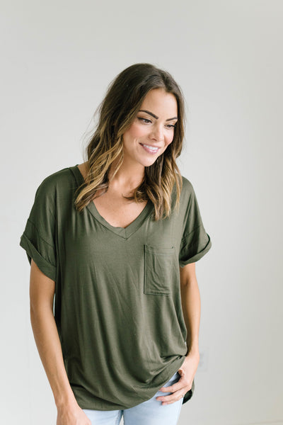 Pretty Lady Tee in Olive