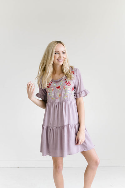 Cherie Embroidered Dress