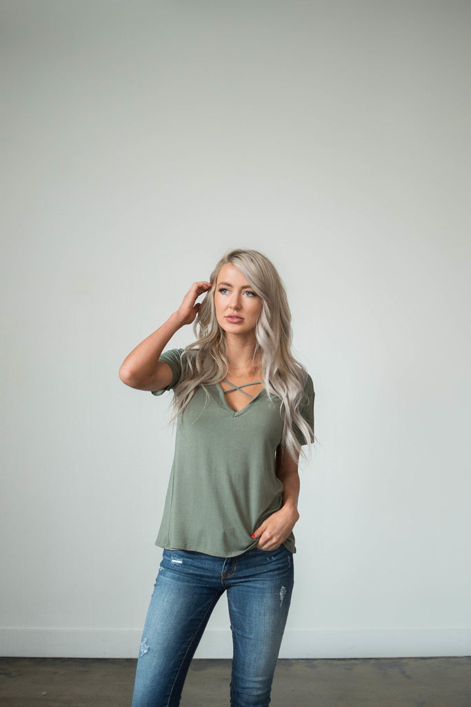 Degree Tee in Olive