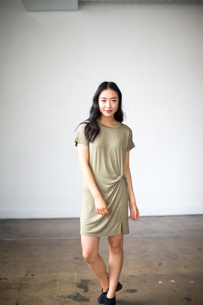 Why Knot Dress in Olive