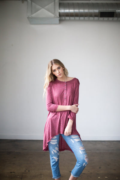 So Obvious Tunic in Burgundy