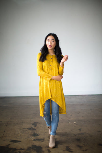 So Obvious Tunic in Mustard