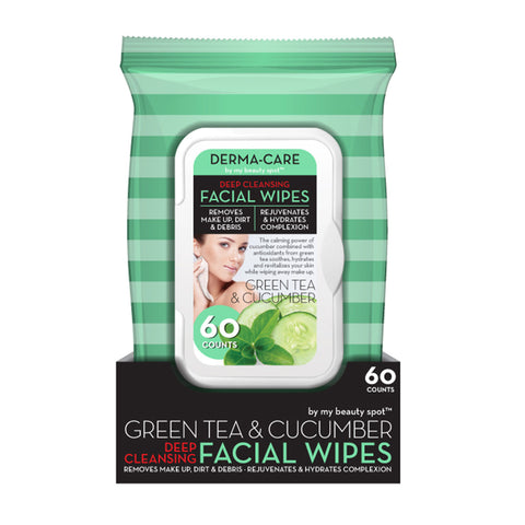 Green Tea & Cucumber Deep Cleansing Facial Wipes
