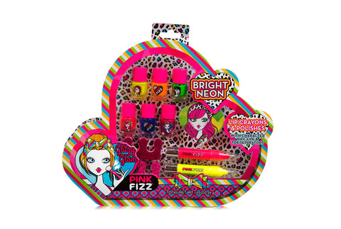 Pink Fizz Neon Electric Cosmetic Set