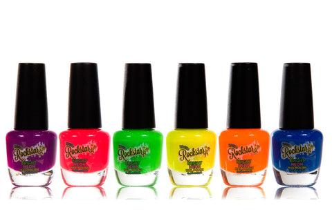 Rockstar Bright Neon Nail Polish Collection