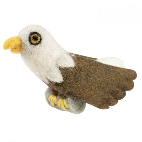 Woolie Bird Ornament | Bald Eagle