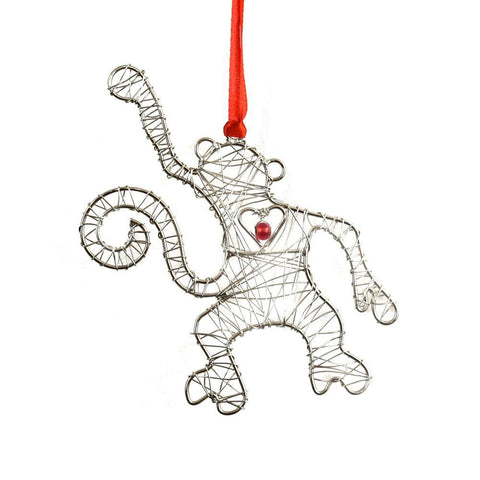 Wire Wrapped Ornament | Monkey