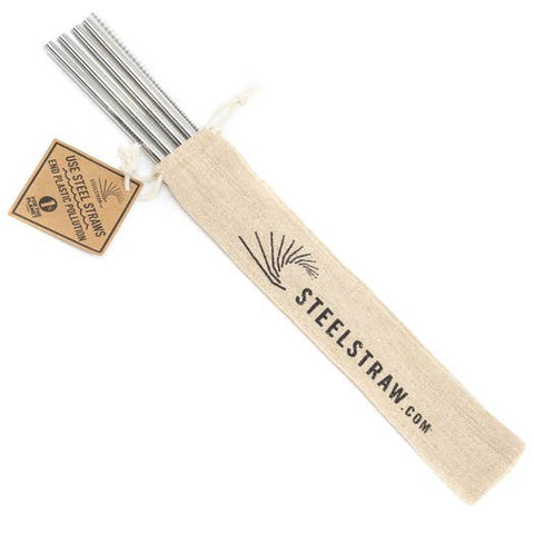 Straw Gift Set | Straight Metal