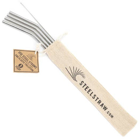 Straw Gift Set | Curved Metal