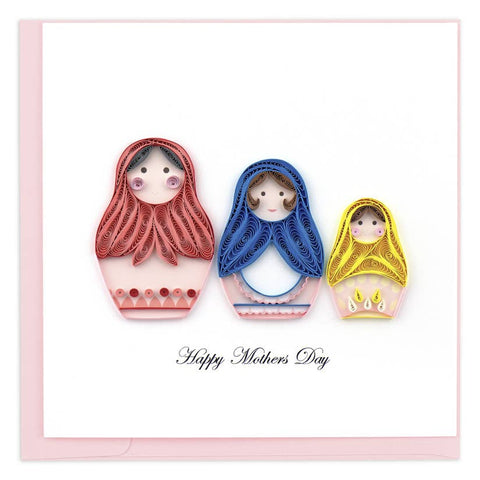 Mother's Day Nesting Dolls Quilling Card