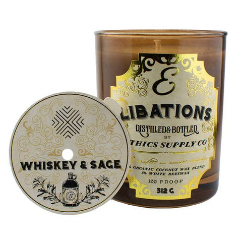 Libations Candle | Whiskey & Sage