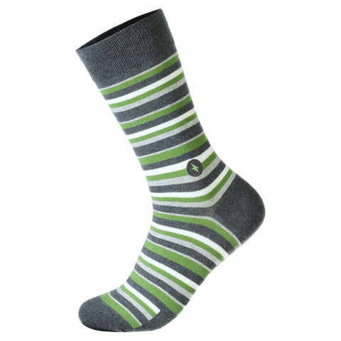 Socks For Disaster Relief | Green Stripe