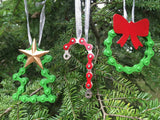 Bike Chain Ornament | Candy Cane