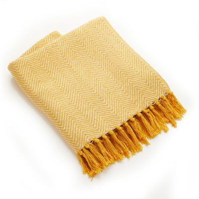 Rethread Throw | Gold Chevron