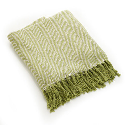 Rethread Throw | Green Chevron