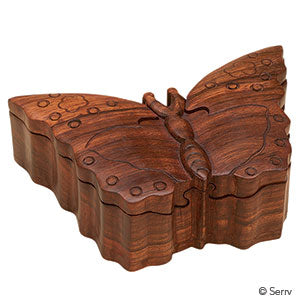 Wooden Puzzle Box | Butterfly