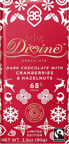 Dark Chocolate Bar | Cranberries & Hazelnuts