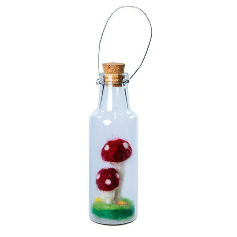 Bottle Ornament | Double Fairy Mushroom
