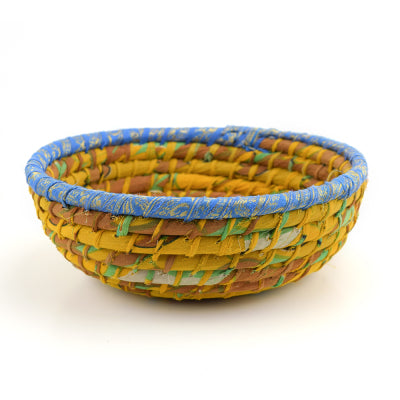 Chindi Basket | Round Gold