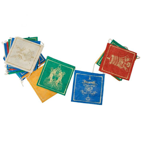 Eco Paper Prayer Flag | Short Lucky Signs
