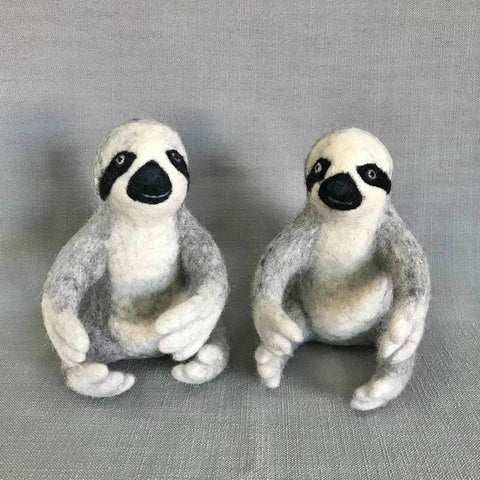 Felted Wool Sloth | Grey