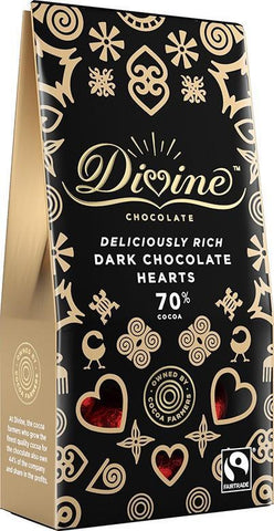 Divine Chocolate Hearts | Dark Chocolate