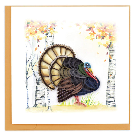 Wild Turkey Quilling Card